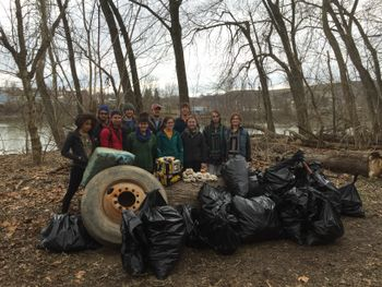 river bank cleanup 2016