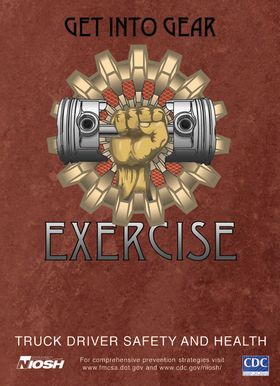 Exercise poster designed for long-haul truck drivers