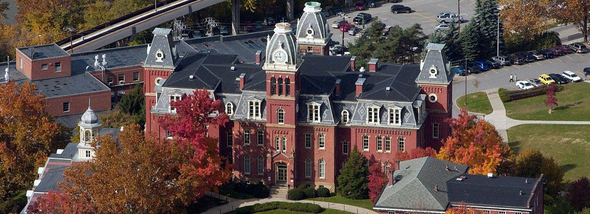 aerial view of Woodburn Hall