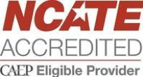 NCATE Accredited CAEP Eligible Provider Logo