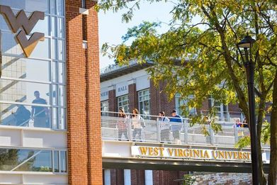 WVU downtown bridge