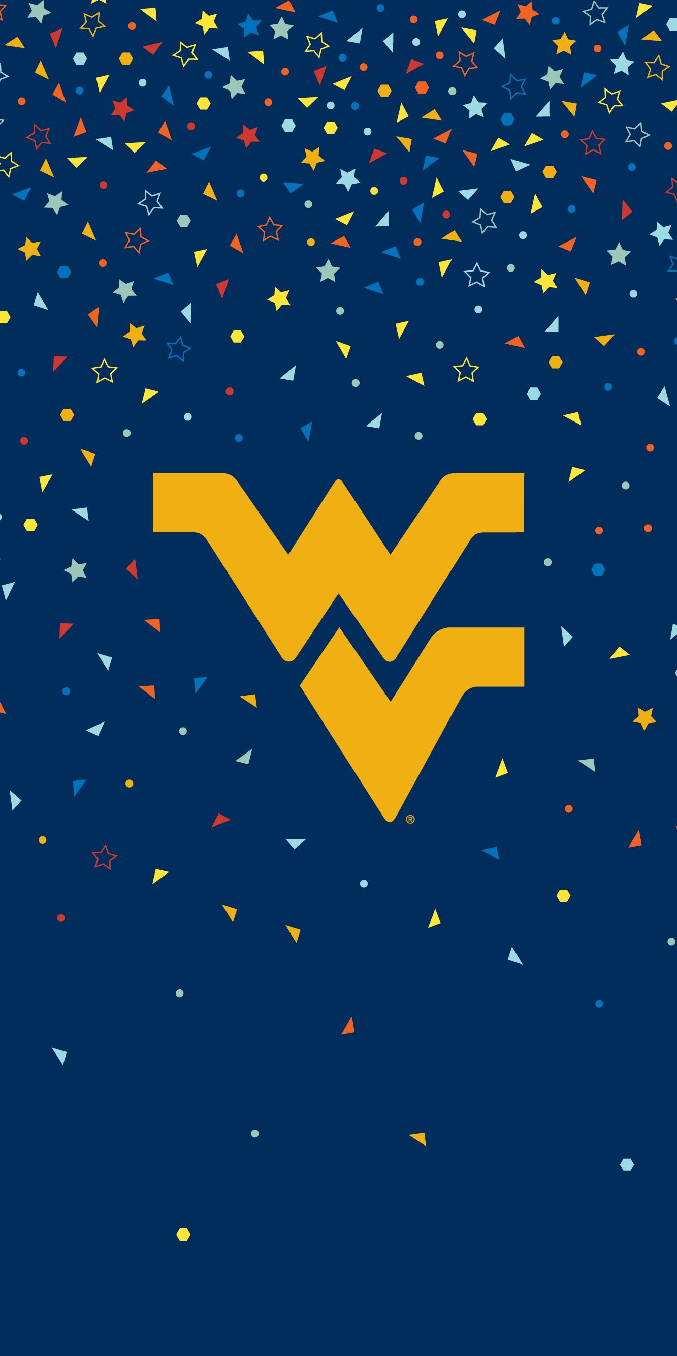 Flying WV confetti mobile wallpaper