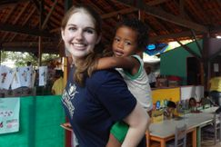 Student from Honors College helping people in Brazil.