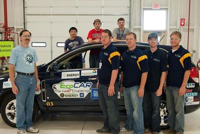 WVU EcoCAR team with NeXt Challenge vehicle