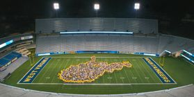 Students form state of WV at Saturday Night Lights