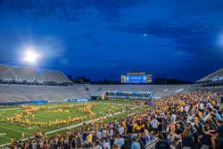 WVU Marching Band performs at Monday Night Lights