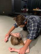 "Actors Katie Smith and Brandon Russi perform in ""Fool for Love"" by Sam Shepard."