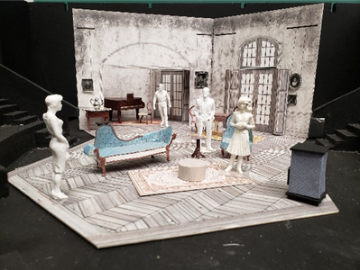 Model by Abigail Wagner for her scenic design at WVU