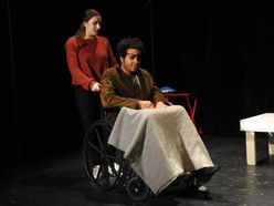 "Actors Rachel Ryan and Cameron Smith perform in ""Gruesome Playground Injuries"" by Rajiv Joseph."
