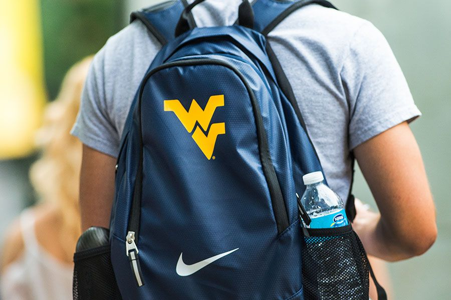backpack with Flying WV and Nike logos