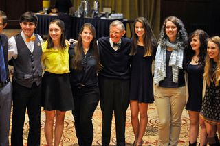 President Gee and members of the Honors Choir