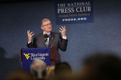 President Gee speaking at The National Press Club