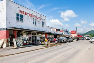 Western Auto and storefronts in downtown Rainelle