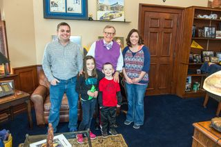 President Gee, Nicholas Wince and the rest of the Wince family