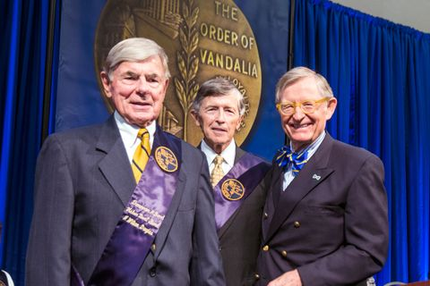 Bill Douglas, Dr. Ronald Wilkinson and President Gee