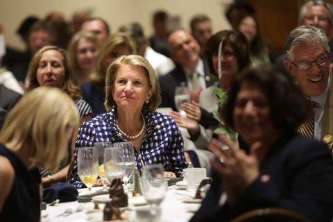 Sen. Shelley Moore Capito seated at table