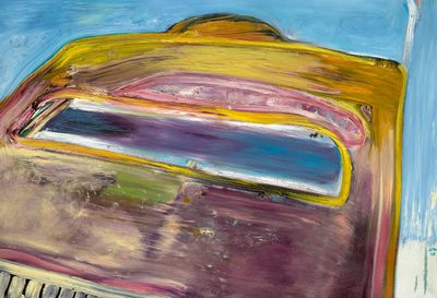 Automobile painting by Peter Saul
