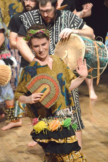 Student performing in World Music Concert