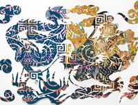 Image of cut paper Chinese dragon