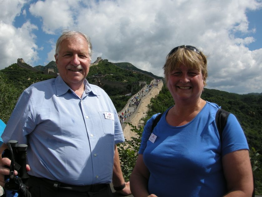 Imre and Janet Szilgayi at the Great Wall of China
