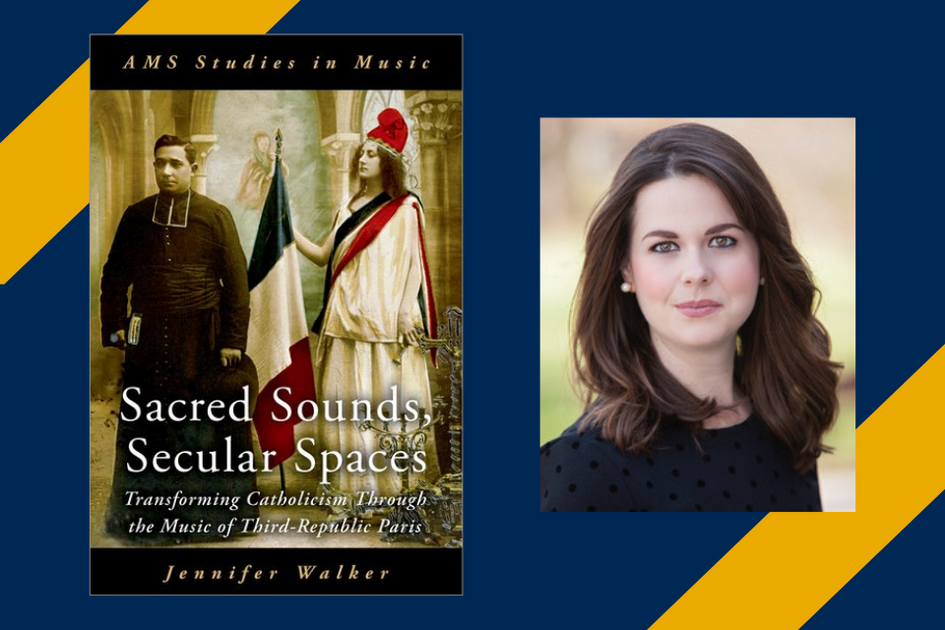 Jennifer Walker's photo and the cover of her book,