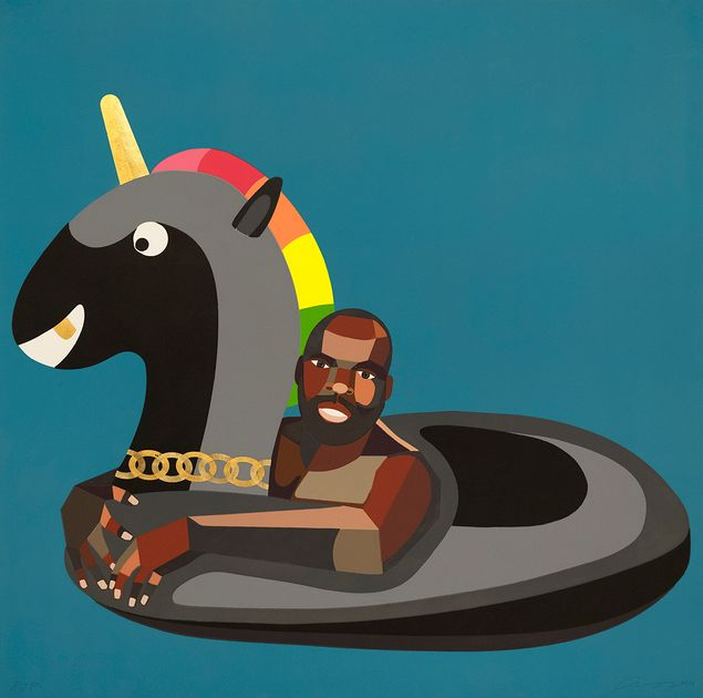 Self Portrait on Float by Derrick Adams