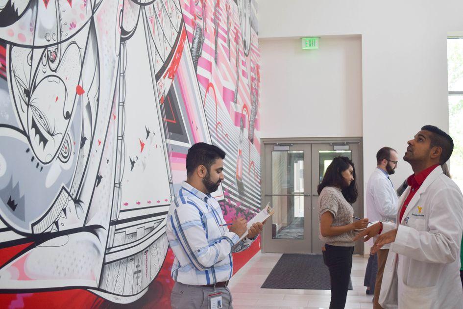 WVU medical students study detail through art at the Art Museum of WVU