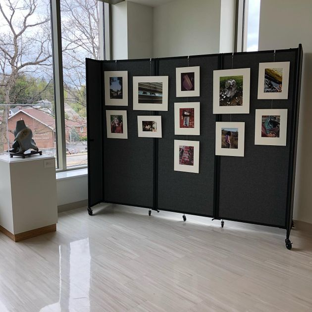 RCB student work in the Art Museum of WVU