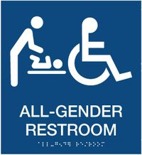 All Gender Restroom ADA with Changing Table