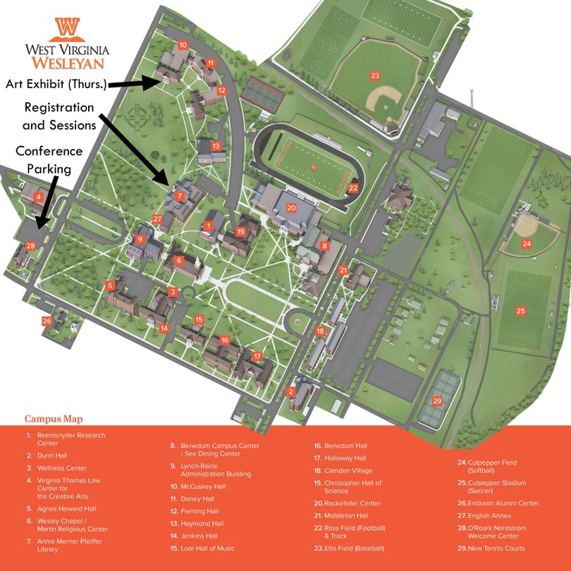 WV Wesleyan College Map