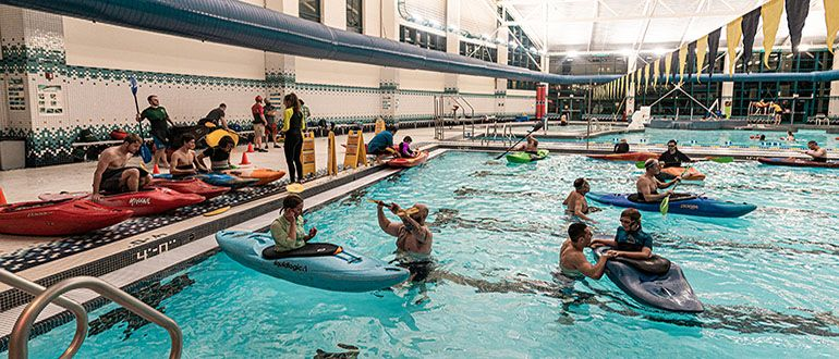 Kayak roll Sessions, Adventure WV, Campus Rec
