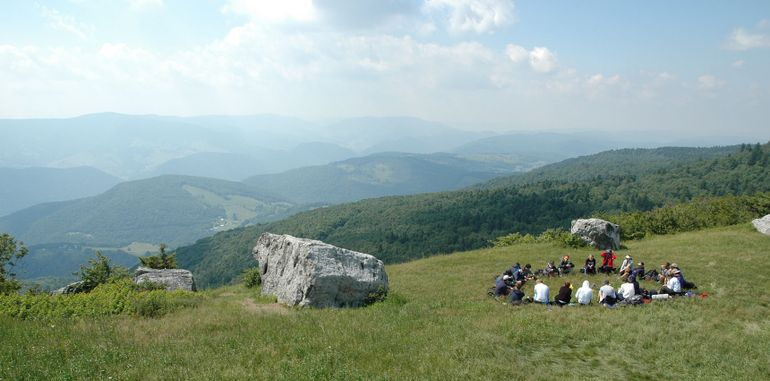 Group on top of Spruce Knob