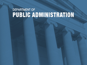 WVU Department of Public Administration Logo