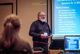 WVU Extension Agent in Putnam County, Chuck Talbott, presents at a conference