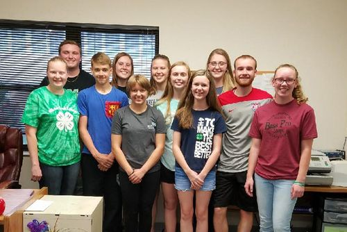 4-H Ambassadors stand for photo