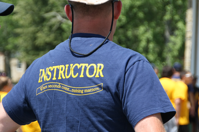 Adjunct Fire Service Instructor back of t-shirt