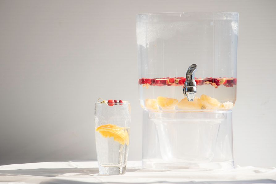 cranberry and orange infused water