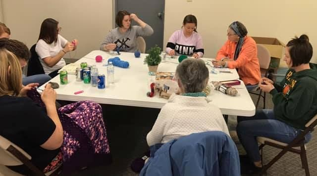 CEOS Members Teach Residents How to Crochet