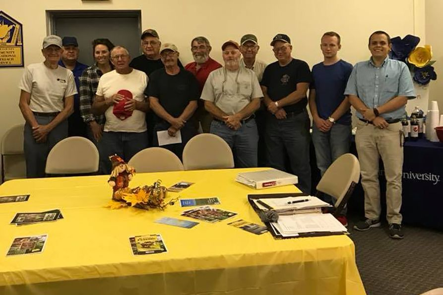 Wayne Cattlemen pose for a group shot at a recent meeting.
