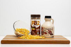 Maple Chocolate Peanut Button Popcorn
