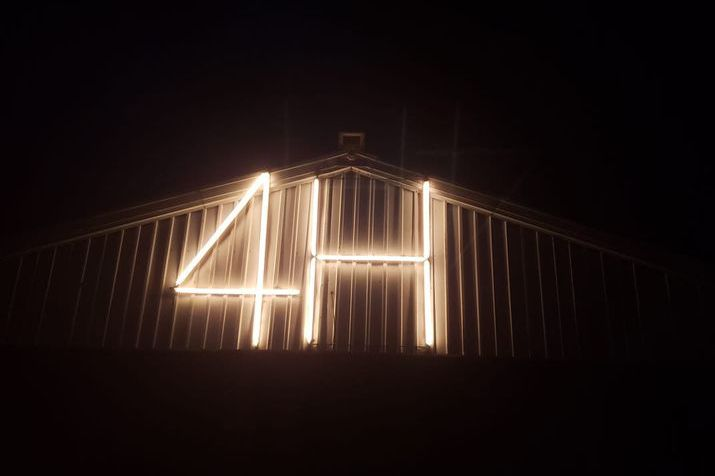 4-H LED sign on a new barn
