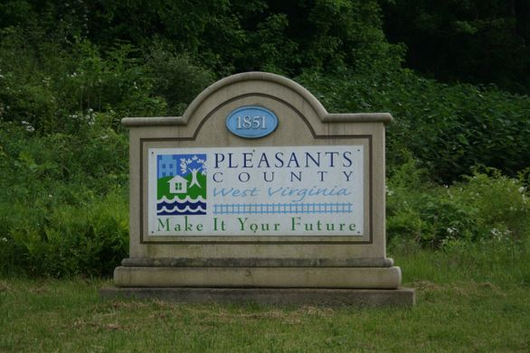 Welcome to Pleasants County sign that reads: Pleasants County, West Virginia. Make It Your Future.