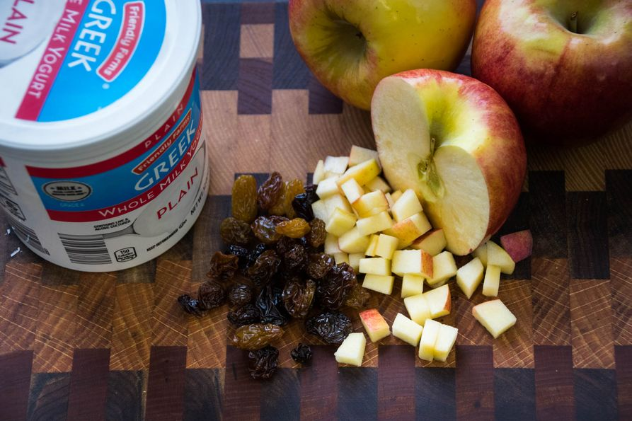 Ingredients for easy apple salad