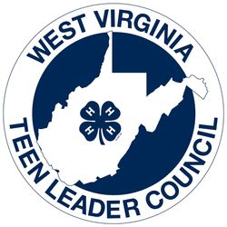 4-H Teen Leader Council Badge featuring an outline of West Virginia with a 4-H Clover in the center.
