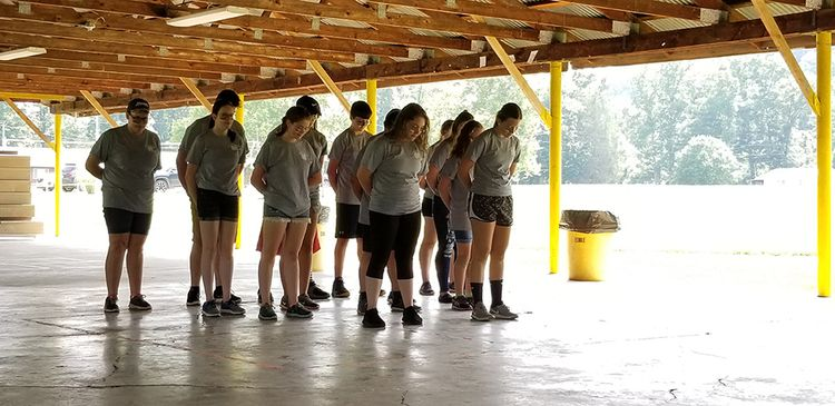 Opening skit for the Wirt County 4-H camp featured members performing a tribal dance known as a haka.