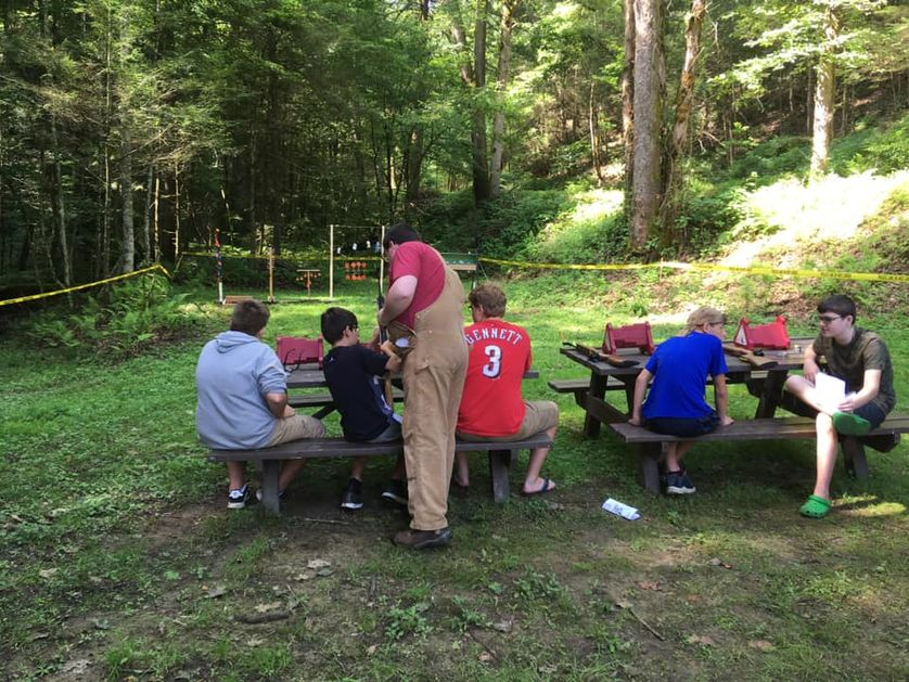 Air Rifle Class at Older Camp