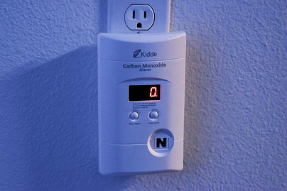 carbon monoxide detectorplugged into wall outlet