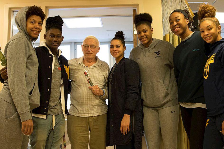 Women's basketball team group photo.