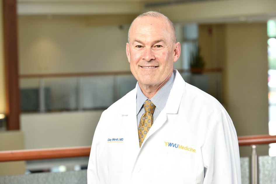 Dr. Clay Marsh in his white coat