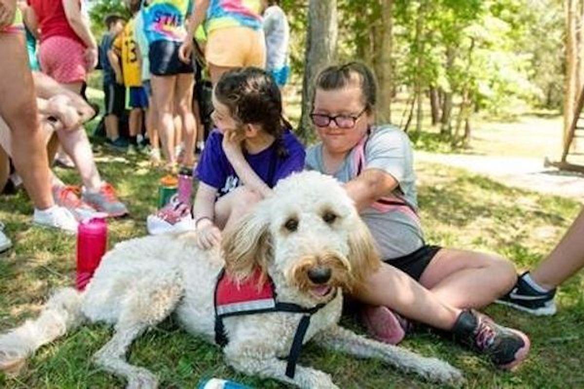 kids with service dog